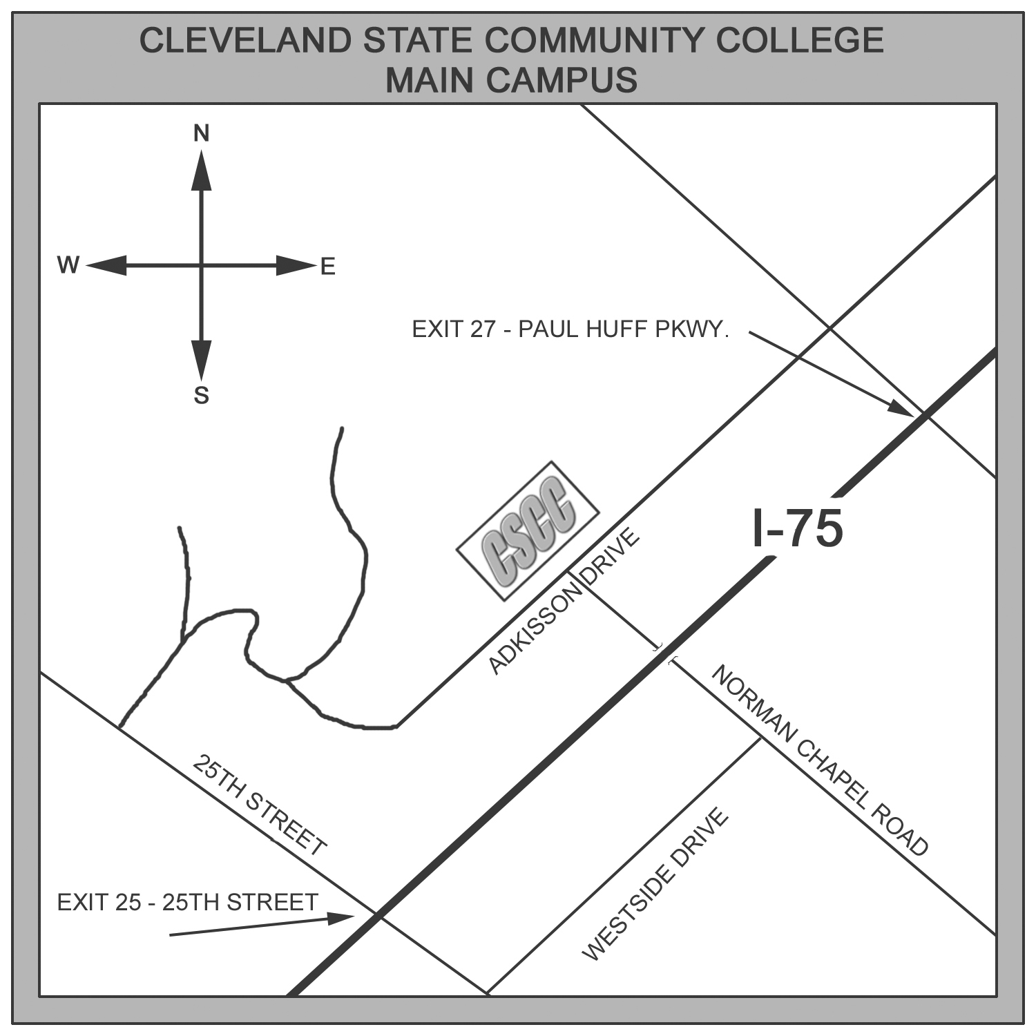 Campus Maps Cleveland State Community College Acalog Acms
