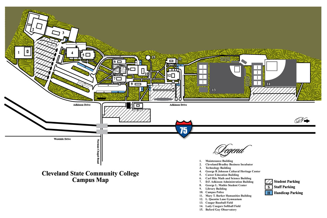 Mclennan Community College Campus Map.100 Campus Maps Cleveland State Community College Acalog Acms